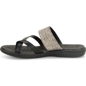 B.O.C. Leather Strappy Slip On Sandals Sz 7